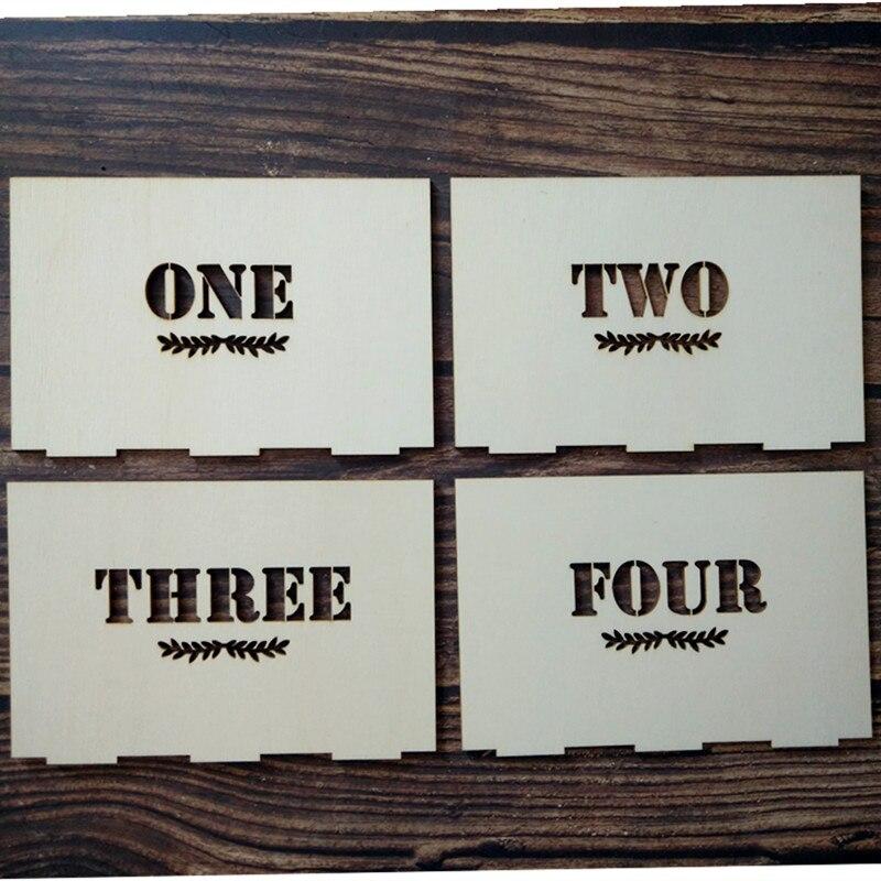 Isikupärastatud puidust laua numbrid koos hoidja alusega pulmade - Pühad ja peod - Foto 4
