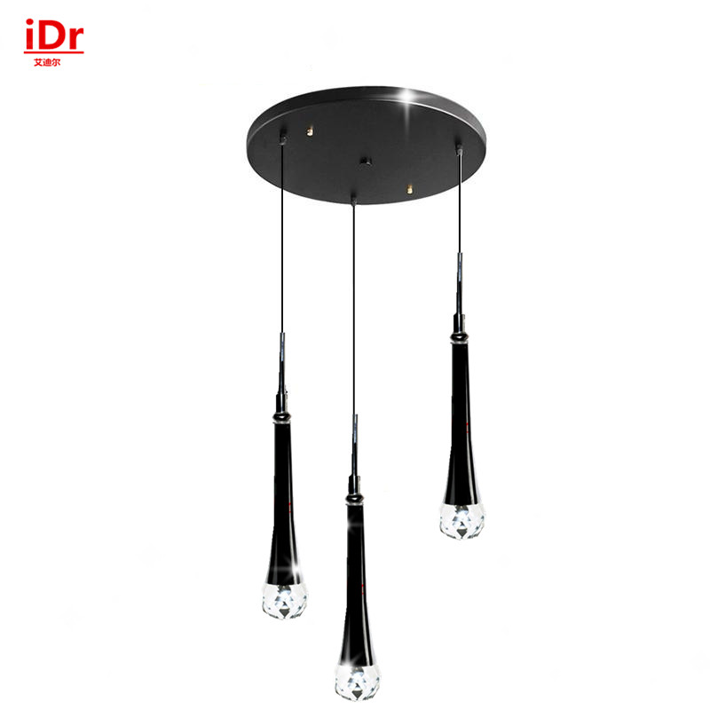 3 tête moderne LED Crystal Pendant Lightsbedroom restaurant lampes suspendues lampes suspendues simples fabricants d'éclairage en gros