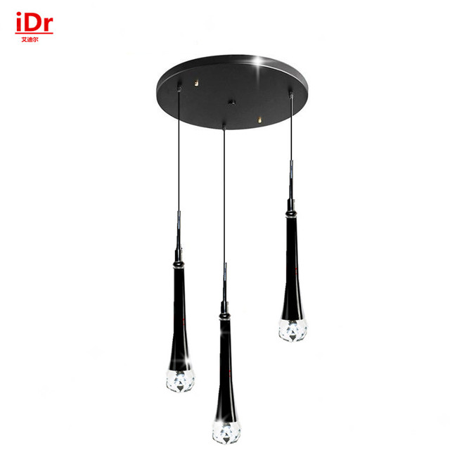 Us 345 0 Aliexpress 3 Head Modern Led Crystal Pendant Lightsbedroom Restaurant Lamps Simple Hanging Lighting Manufacturers