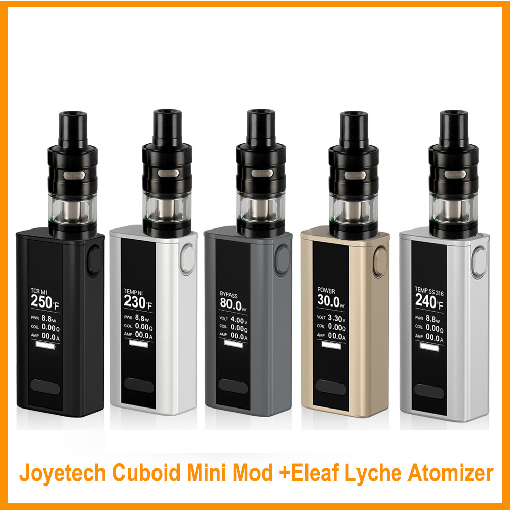 Russian Warehouse Original Joyetech Cuboid Mini Battery With Lyche Tank Or (rba Head) Full Kit 80w 2400mah Built In Vape E-cig