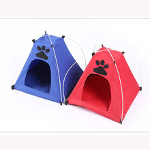 Fashion Pets Cage Bed Oxford Cloth Puppy Tent Creative Pet Dog Nest Washable Lovely Cradle Warm Pet Cat Supplies 1PC Breathable