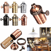 1 Uds 250W Vintage Luz de Edison Socket Holder Screw Bulb cobre antiguo E26/E27 Retro lámpara estándar latón accesorio de portalámparas