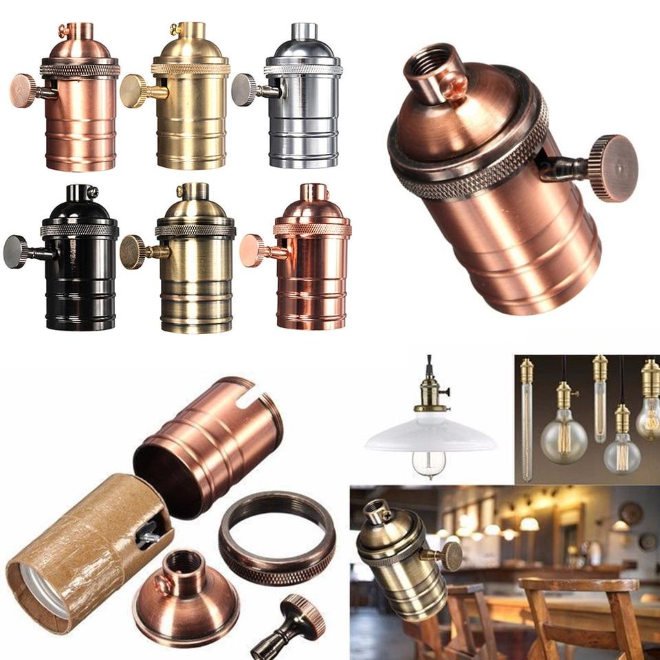 2x Edison Vintage Retro Lamp Light Base Socket Holder for E27 E26 Screw Bulb