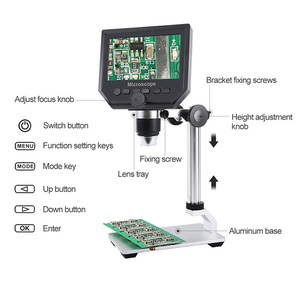 G600 600X Electronic USB Microscope Digital Soldering Video Microscope Camera 4.3 inch LCD Endoscope Magnifying Camera + 8 LED(China)