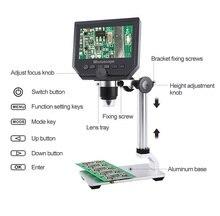 G600 600X électronique USB Microscope numérique à souder vidéo Microscope caméra 4.3 pouces LCD Endoscope loupe caméra + 8 LED