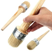 New Home Use Brush Wooden Handle Painting Wax Brushes 185mm Long Round Bristle Chalk Oil Paint DIA 20mm/30mm