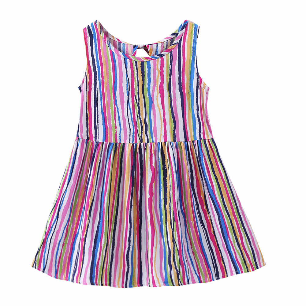 b98f64fbf ... Chicas ropa de verano niña vestido bebé niñas bebé de dibujos animados  de niños vestido de ...