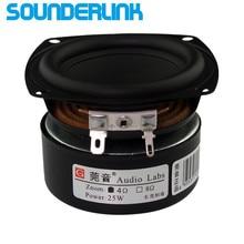 "2 PCS LOT Sounderlink Audio Labs 3 ""25W 서브 우퍼 우퍼베이스 미드 레인지 스피커 드라이버 3 인치 30W 라우드 스피커 DIy"