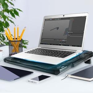Image 4 - Tecknet Laptop Miếng Lót 12 17 Inch Với 5 Người Hâm Mộ Tại 1500 Vòng/phút 2 Cổng USB Chơi Game Pad trượt Chống Laptop Quạt Làm Mát