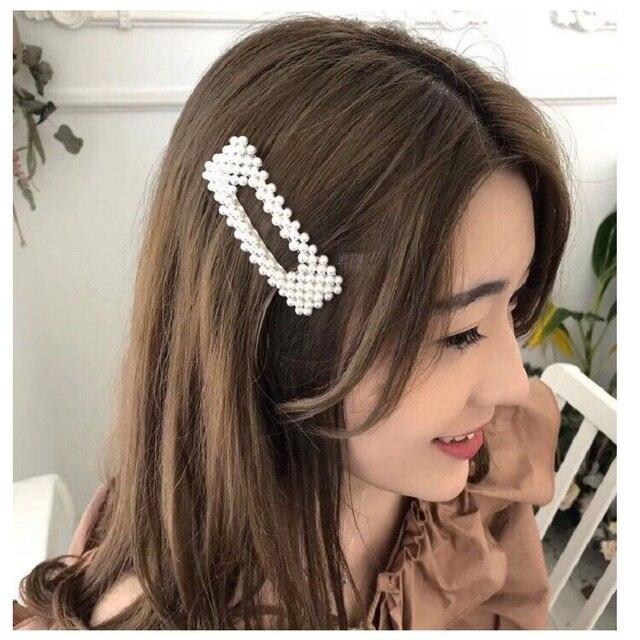 M MISMO Grampos de Cabelo para As Mulheres Moda Doce Imitação de pérolas Completa Liga BB Grampo de Cabelo Meninas Acessórios Para o Cabelo Grampos de Cabelo Estilo Coreano