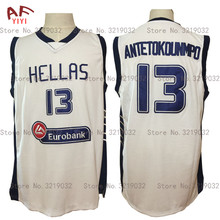 Hellas Giannis Antetokounmpo 13 Greece Throwback