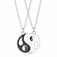 2 шт набор из ожерелья с кулоном нержавеющей стали ying yang