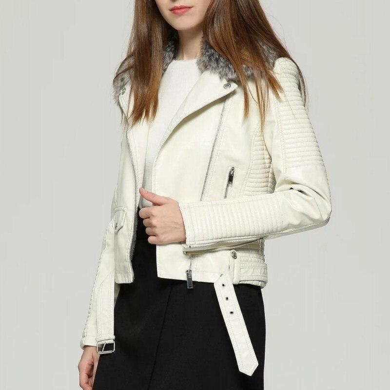 Cuir Style Veste Pour Blanc Noir Pu White Biker Femme Mode pink black Vestes De Boucle Européenne Survêtement Glissière Rose Dames 2019 Nouvelle À wEapwqd