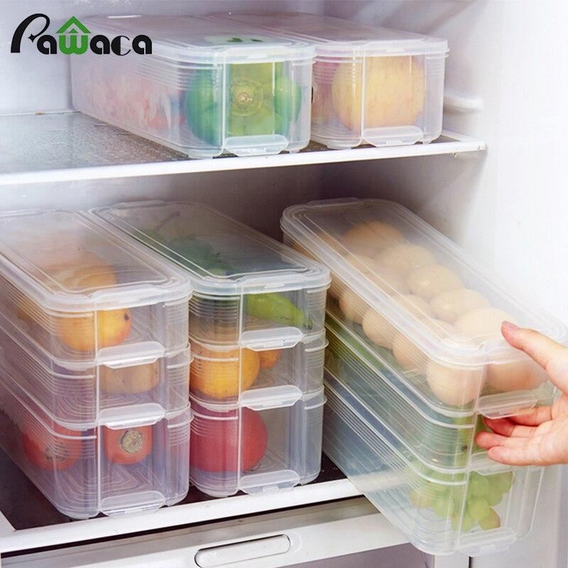 Kunststoff Lagerplätze Kühlschrank Lagerung Box Lebensmittel Lagerung Behälter mit Deckel für Küche Kühlschrank Schrank Gefrierschrank Schreibtisch Veranstalter
