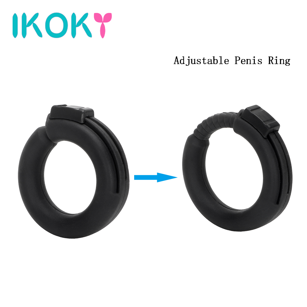 IKOKY 2Pcs/Set Tire Type Silicone Delay Ejaculation Cock Rings Black/Transparent Sex toys for Men Penis Rings Sex Cockring 3