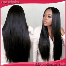 Silky Straight Best Human Hair U Part Wigs Virgin Hair Brazilian Silk Top Full Lace Wigs Glueless Middle Part Lace Front Wigs