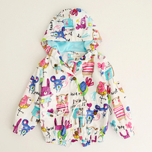 Baby Jackets Hooded Graffiti Printing Baby Outerwear & Coats
