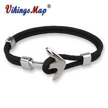 Новые модные браслеты мужские очаровательные 550 веревка для