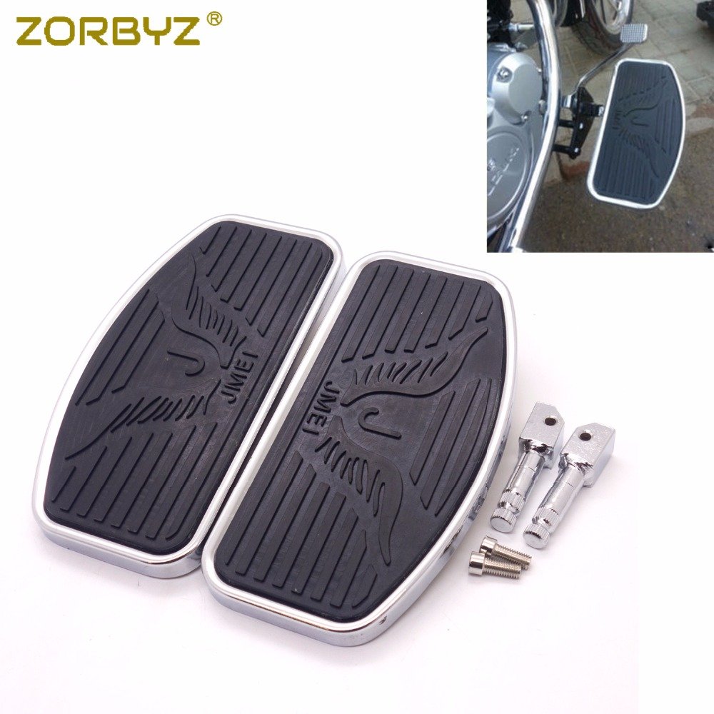 ZORBYZ 1 Pair Floorboard Footboards Footrest Pad For Honda VTX1300 VTX1800 Suzuki VL400 C50