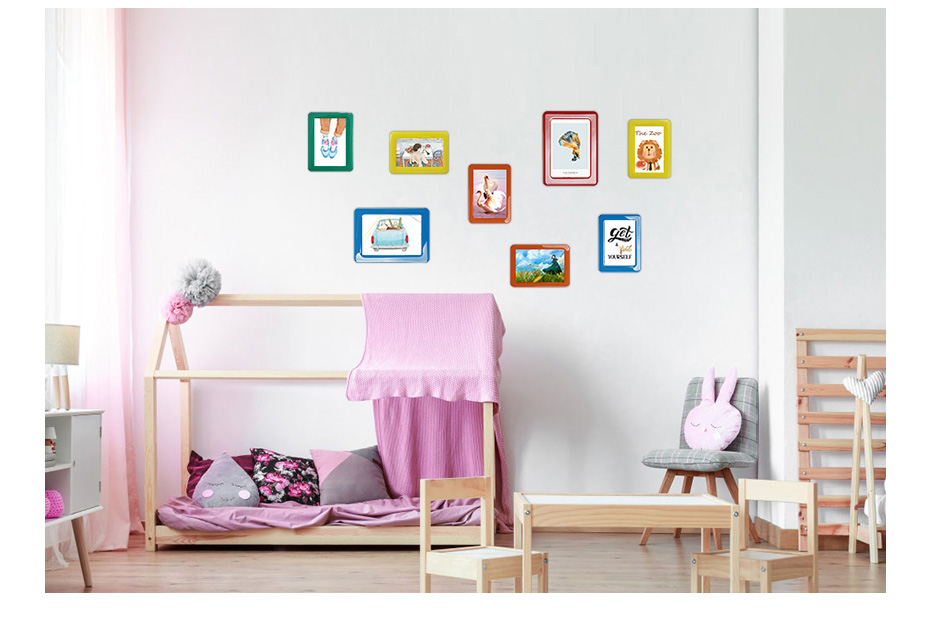 930 Magnetic Photo Frame With Adhesive Crystal Surface Kids Room Wall Decor Magnet Picture Frame_03
