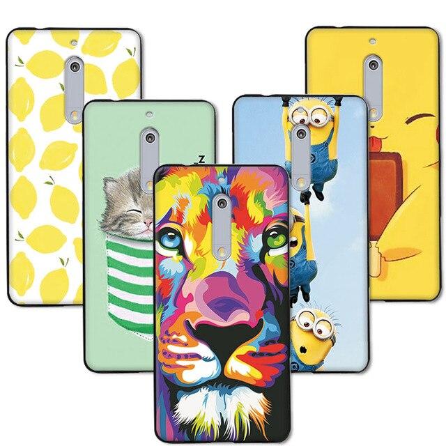 adlikeme fruit art print minions banana cartoon design capa phone case for nokia 5 cover for