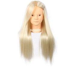 55-60CM 80% natural hair Mannequin Head Hair Maniqui Hairdressing Doll Heads Cosmetology Women Hairdress Manikin