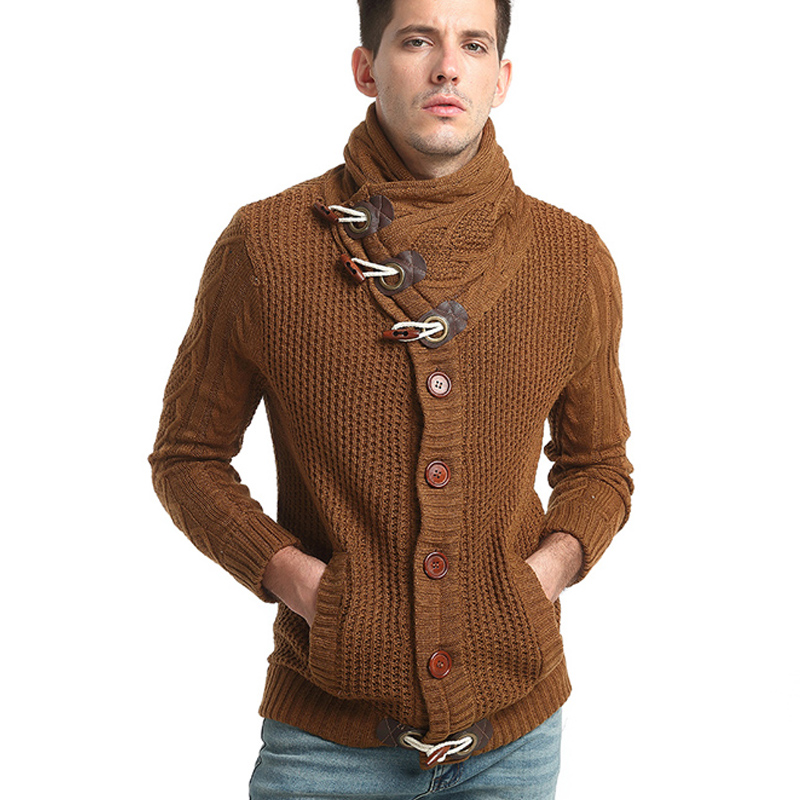Nice Autumn Winter Fashion Casual Cardigan Sweater Coat Mens Slim Fit Acrylic Warm Knitting Clothes Button Design Sweater