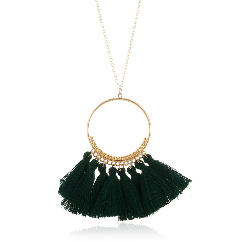 DIEZI Bohemia Fashion Hot Sale Style Long Tassel Pendant Necklace For Women Jewelry 2018 New Long Chain Fringed Necklace