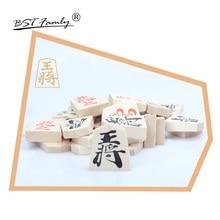 BSTFAMLY Wooden Japan Shogi 40 Pcs/Set International Checkers Folding Sho-gi Chess Game Table Toy Gift for Children Adults JA02