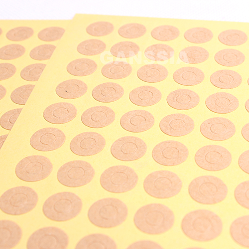 350pcs/lot Mini Size Dia 1cm Kraft Paper Gift Seal Stickers Reinforcement Hole Sticker Stationery Ring Label Supplies (ss-1473)