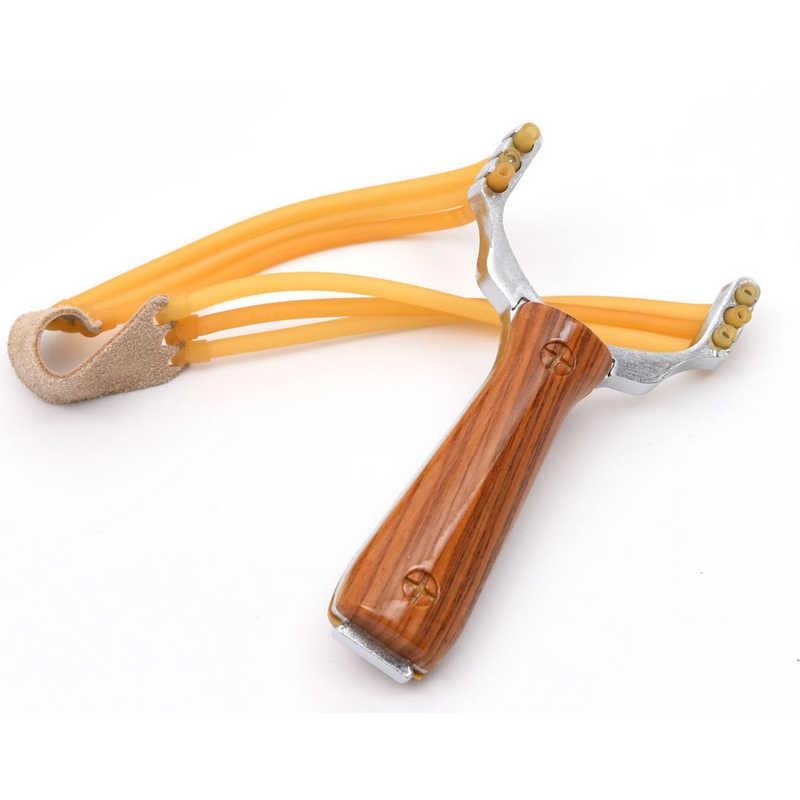 Crianças ao ar livre Brinquedo Slingshot Catapult Catapulta Mármore Jogos de Caça Arco de Aço de Alumínio & Rubber Band Brinquedo Jogos de Esportes
