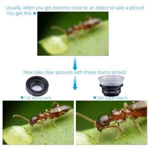 Image 5 - APEXEL Profesyonel 12X/24X Makro lens Cep Telefonu Kamera Lensi Süper Makro iPhone 6 6 artı Ve tüm akıllı telefon