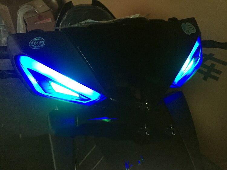 Image 2 - LED Motorcycle Turn Signal Lights Motorbike lndicator For Yamaha Scooter Cygnus xc fog lIGHT moto Tail Brake Lights Streamer
