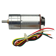 25GA370 DC Geared Motor with Encoder Motor, Speed Disc Large Power High Torque Balance Car Special