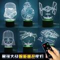 Звездные войны пульт дистанционного управления 3 D видения ночник, Из светодиодов маленький настольная лампа, Usb личность творческий подарок на день рождения