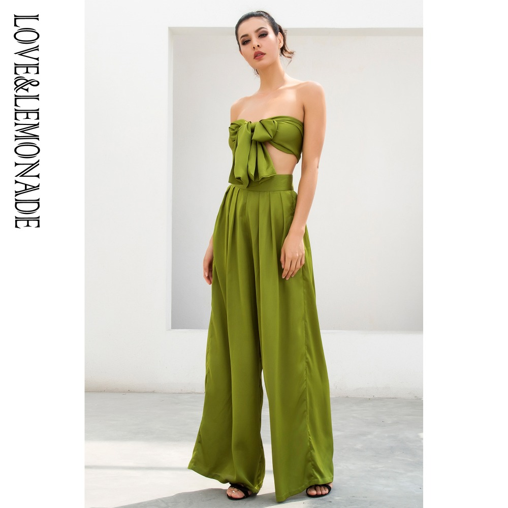 Amor & Limonada Verde Sino de Cintura Alta Two-Pieces Set TB 9656