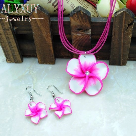 Fashion jewelry sets!children girl necklace+earring flower products cute kids gift w shipping Spring Summer color  CS75