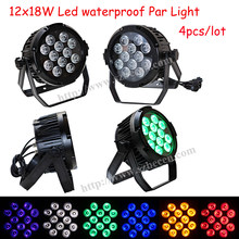 BECEN 4PCS 12x18W RGBWA UV Led Par Light Waterproof IP65 Stage 6IN1 Outdoor par 64 DMX512(China)