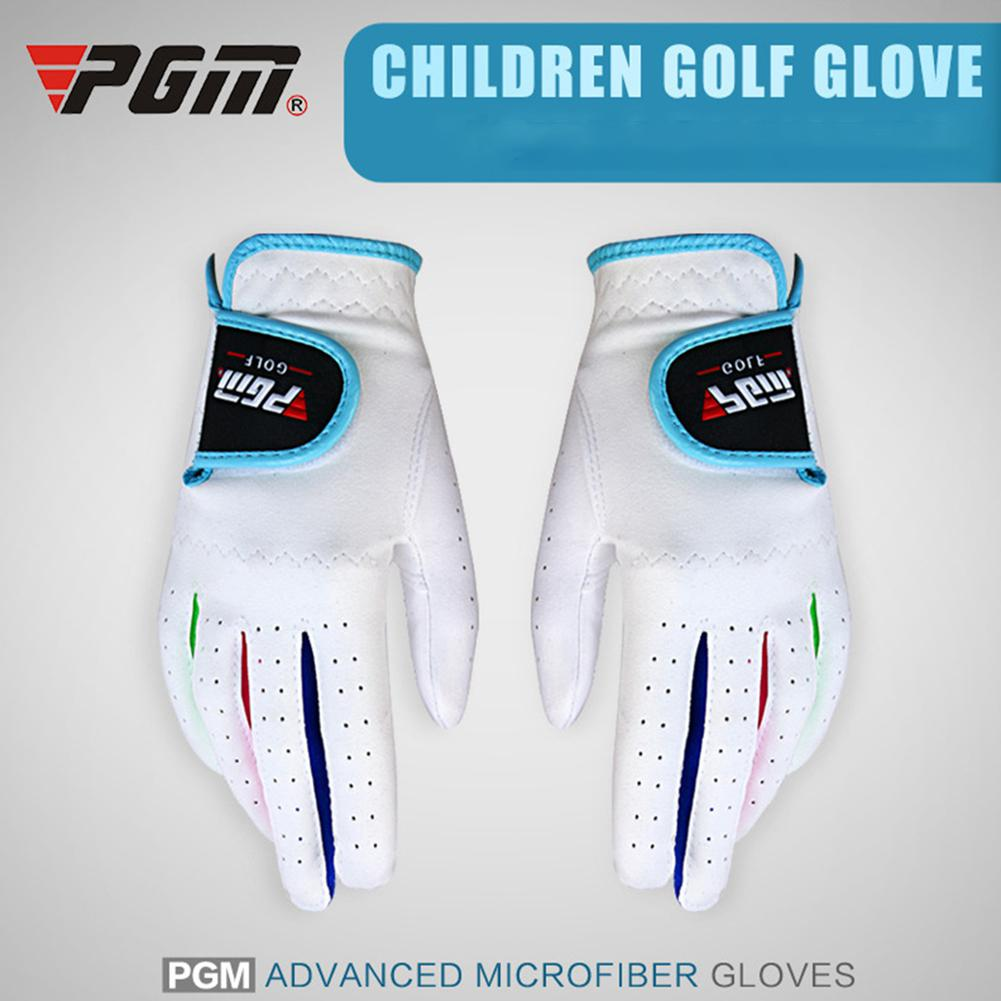 Mounchain Unisex 1pair Golf Gloves palms protective Breathable Left or Right Hand Anti skid Golf Glove for Children|Golf Gloves| |  - title=