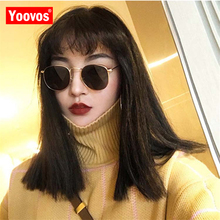 Yoovos 2019 Metal Sunglasses Women/Men Brand Designer Vintage Round Sun Glasses Female Mirror Classic Oculos De Sol Gafas UV400 vintage round sunglasses women rivets punk circle men female brand metal mirror lenses sun glasses for women male oculos de sol