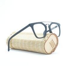 6b16bfa28d9c Mincl Retro Wood Grain Handmade Acetate Eyeglasses Double Bridge Glasses  Frames