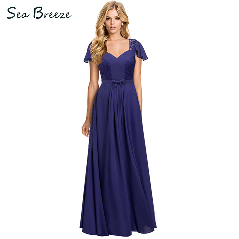 Sea Breeze Summer Women Elegant Temperament Sexy Deep V