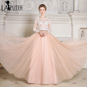 2017 New Robe De Soiree Boho Summer Vintage Evening Party Dress Gold Belt Real Photo Occasion Long Sleeves Prom Dress