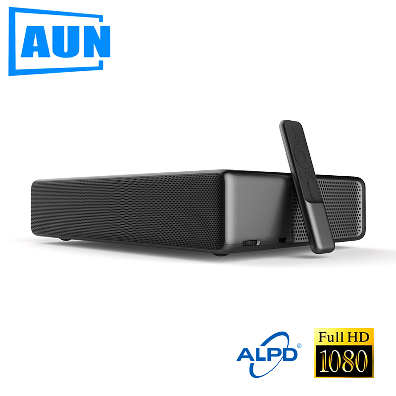 AUN WEMAX ONE Pro. Ultra Short Throw Full HD Laser Projector. 2400 ANSI Lumens, 1920x1080. Bluetooth speaker Dolby. Free TV BOX