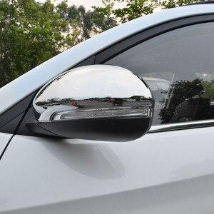Image 4 - Pour Hyundai Tucson 2016 2017 2019 Chrome côté porte miroir couverture vue arrière bouchon moulage garniture superposition protecteur voiture style 2 pièces