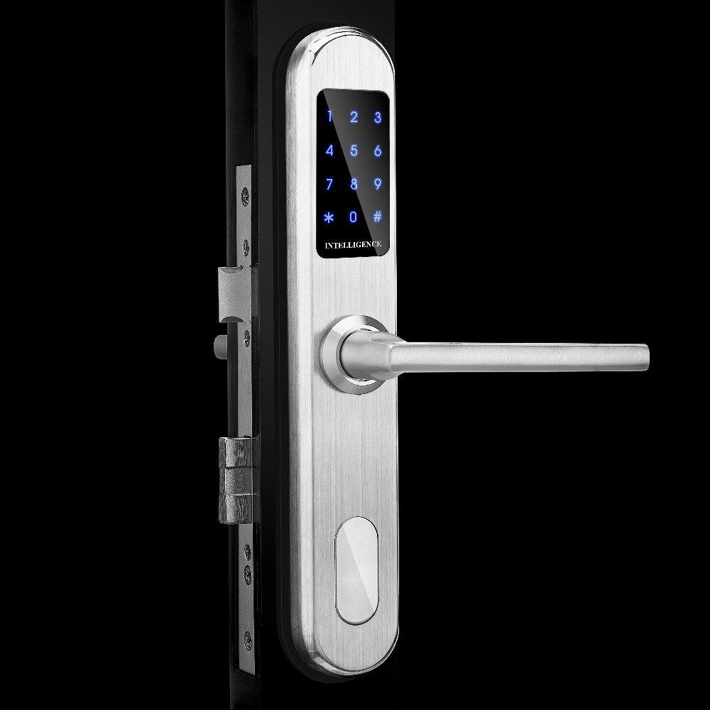 Casa Intelligente Password Auto Porta di Accesso della Serratura di Controllo di Sicurezza di blocco Della Batteria Spille Europeo Keyless Tastiera Elettronica Maniglia Della Porta Serratura