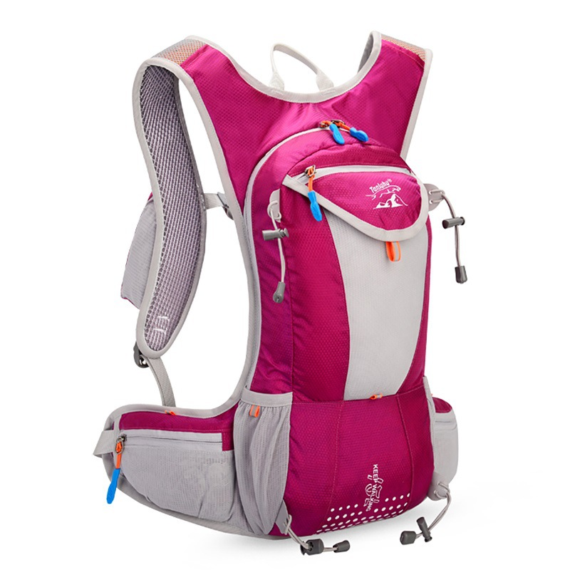 15L Waterproof Nylon Men Women Marathon Trail Running Backpack Mochila Outdoor Sports Jogging Cycling Bag Bicycle Bike Bag in Running Bags from Sports Entertainment
