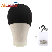 Canvas Head With Clamp Stand For Wig Making Display 21 25 Inch Training Mannequin Head For Hairdresser Practice With Black Cap