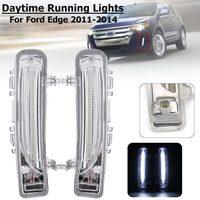 Led Drl For Ford Edge 2011 2012 2013 2014 Daytime Running Light Front Bumper Driving Fog Lamp Daylight Headlight Turn signal