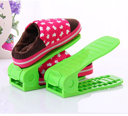 Delicieux Free Shipping 2pcs/pair Adjustable Shoes Rack Shoe Holder Organizer Saving  Space Double Layer Storage